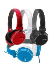 iLuv Rockefeller High Quality Deep Bass On-Ear Headphones Black White Blue Red
